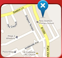 Map to New Seaham School